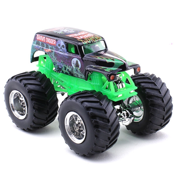 Green Monster Truck Toy : Hot wheels grave digger die cast truck